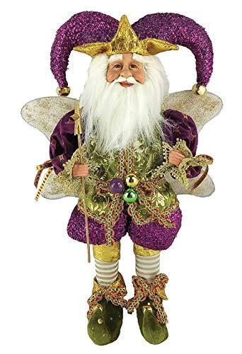 Santa's Workshop 16″ Mardi GRAS FAIR Tabletop Accent Décor, One Size, Multi