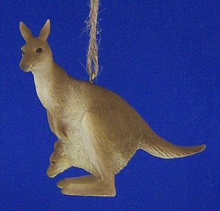 Kangaroo w/Baby Christmas Ornament Midwest Falls