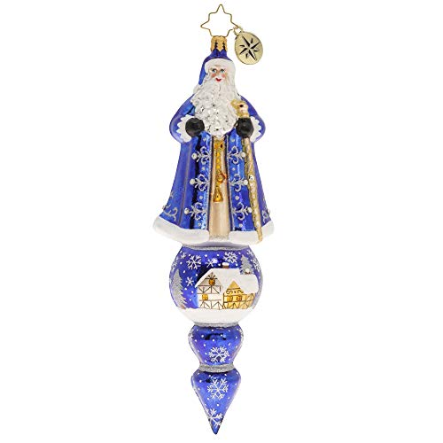 Christopher Radko Hand-Crafted European Glass Christmas Ornament, Santa is Tops!
