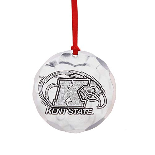 Wendell August Forge Kent State University Ornament, 2.125″ Round – Display Golden Flashes Pride with a Hand-Hammered Aluminum Hanging Ornament for KSU Alumni – Made in USA