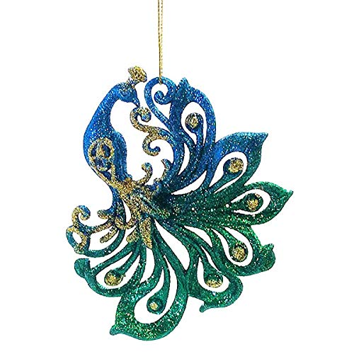 Holiday Lane Macy's 4.5-inch Peacock Christmas Tree Ornament