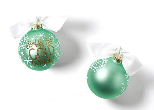 Coton Colors 100 MM Baby It's Cold Outside Glass Ornament