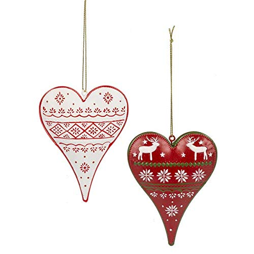 Midwest Heart Ornament Boxed 1 Set of 4