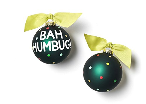 HAPPY EVERYTHING! Bah Humbug Glass Ornament