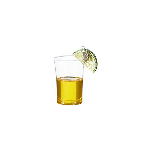 Clear Tequila Shot Lime 3.25 inch Resin Decorative Christmas Ornament