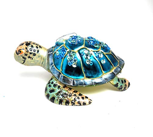 December Diamonds Ornament – Sea Turtle with Smile 5″