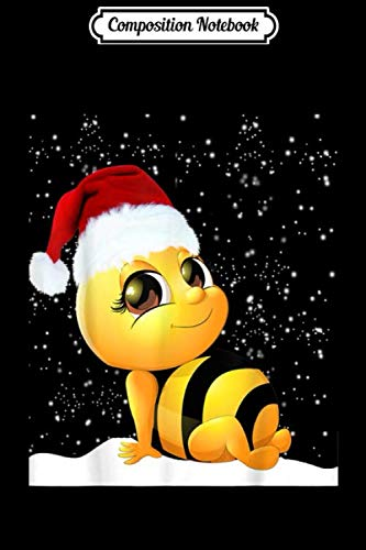 Composition Notebook: Bee christmas ornament sewing Bumble bee xmas gift Journal/Notebook Blank Lined Ruled 6×9 100 Pages