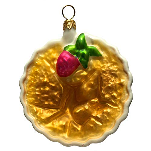 Pinnacle Peak Trading Company Crème Brulee Polish Glass Christmas Tree Ornament Dessert Food Decoration