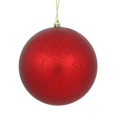 Vickerman Ball Ornament, 4″, Red