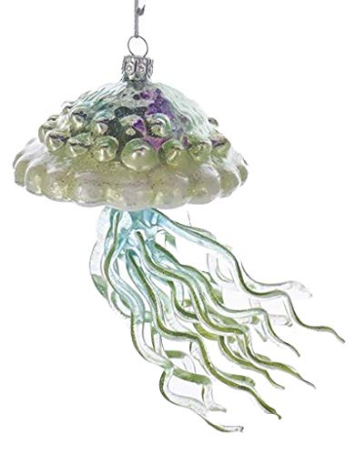 Noble Gems Glass Jellyfish Ornament Nautical Sea Life Ornament (B)