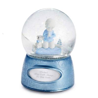 Things Remembered Personalized Praying Boy Musical Snow Globe with Engraving Included