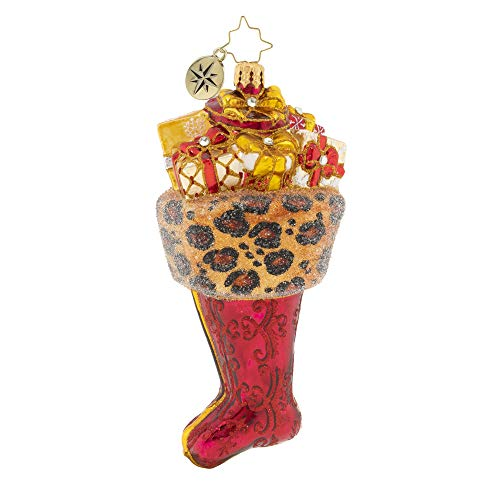 Christopher Radko Hand-Crafted European Glass Christmas Decorative Figural Ornament, A Fierce Stocking
