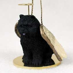 Chow Black Pet Angel Ornament by Conversation Concepts