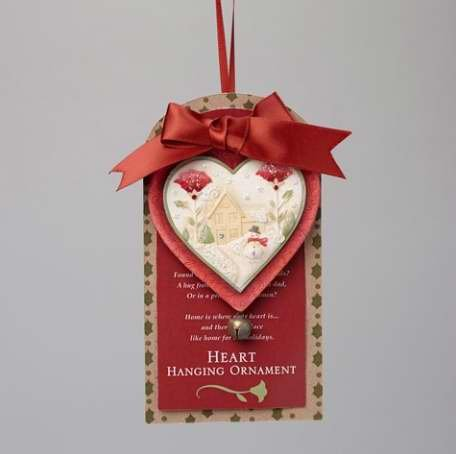 Enesco Heart of Christmas Heart of Christmas Ornament 2.17 in