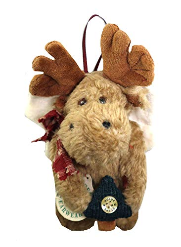 Boyd's Bearwear Plush Moose Angel Christmas Ornament