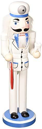 Santa's Workshop Dentist Nutcracker, 14″ Tall, Blue/White