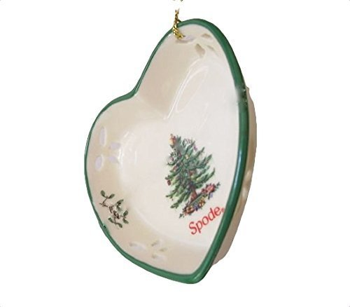 Spode Heart Plate Christmas Tree Christmas Holiday Ornament by Spode