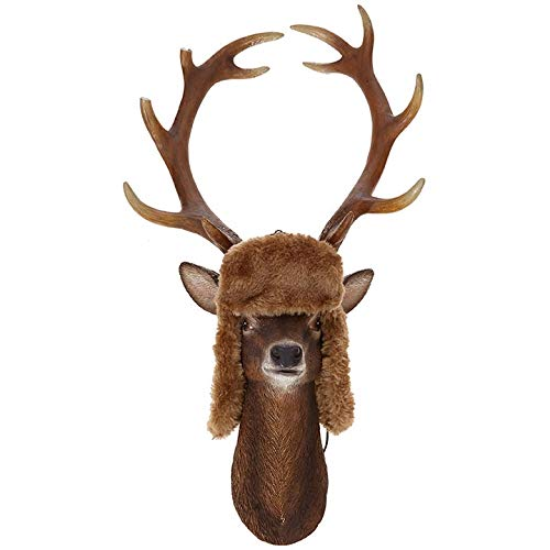 RAZ Imports Deer Head Winter Ornament, 17″ inches