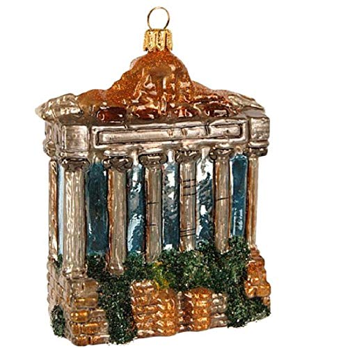 Pinnacle Peak Trading Company Ruins of Roman Forum Polish Glass Christmas Ornament Ancient Rome Italy Travel