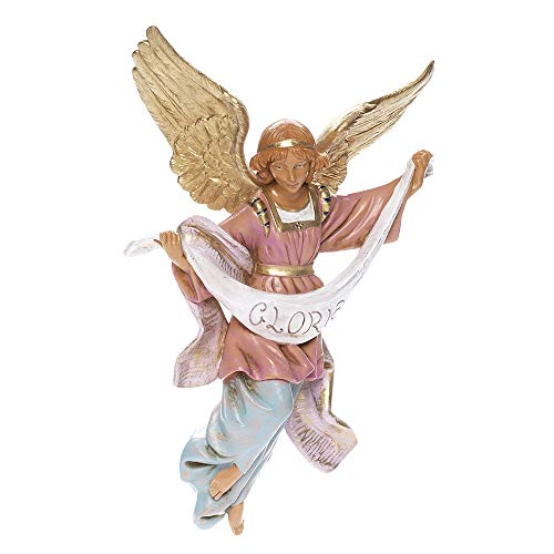 Fontanini, Nativity Figure, Gloria Angel, 12″ Scale, Collection, Handmade in Italy, Designed and Manufactured in Tuscany, Polymer, Hand Painted, Italian, Detailed