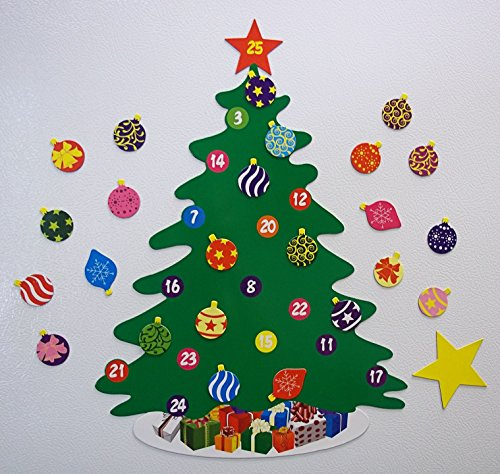 15.75″- 26 Piece Magnetic Christmas Tree Advent Calendar