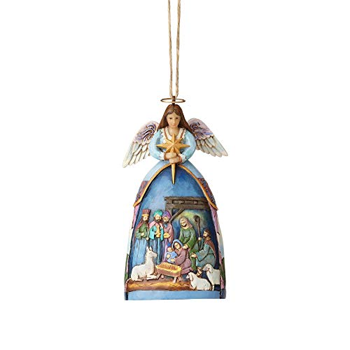 Enesco Jim Shore Hwc Ho Angel With Nativity