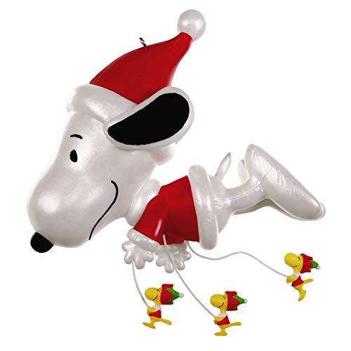 Hallmark Keepsake Christmas Ornament 2019 Year Dated The Peanuts Gang Fly Parade, Snoopy Balloon