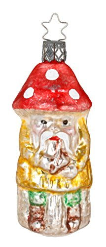 Inge-Glas Nostalgic Mushroom Man 1-215-17 German Glass Christmas Ornament