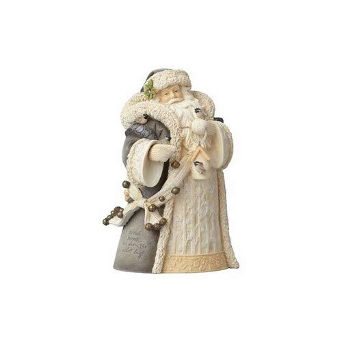 Foundations Woodland Santa with Bird Stone Resin Figurine, 7.7″