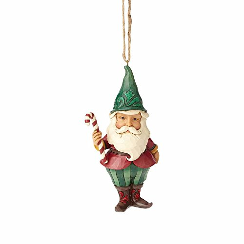 Enesco-Gift 4058749 Woodland Santa Gnome Ornament, Multicolor