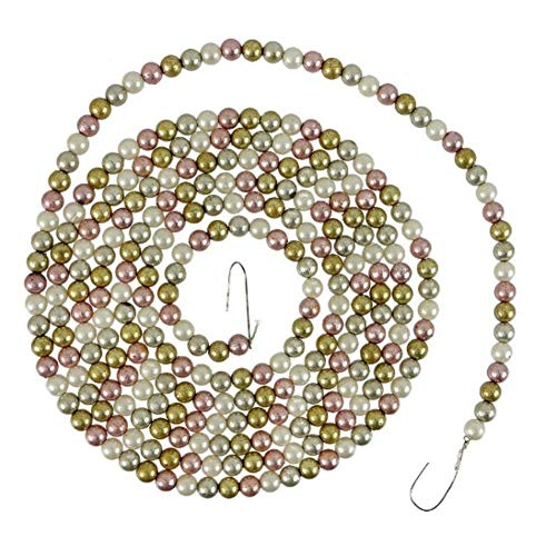 Bethany Lowe Pastel Color Garland 0.25″ Wide Mini Pearl Bead – 9′ Length
