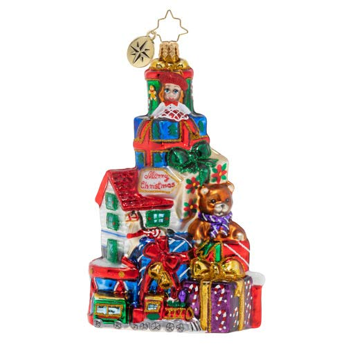 Christopher Radko Hand-Crafted European Glass Christmas Decorative Figural Ornament, Pile of Terrific Toys!