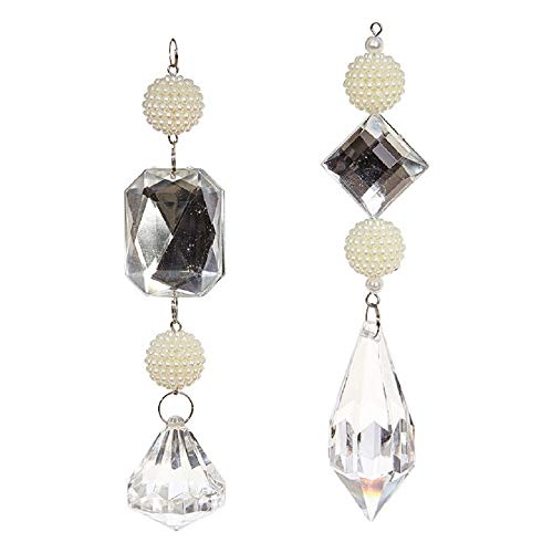 RAZ Imports Pearl & Crystal Drop Ornament Set