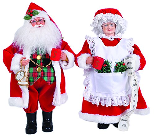 Santa's Workshop 6517 Mrs Claus Figurine, Set of 2, 15″