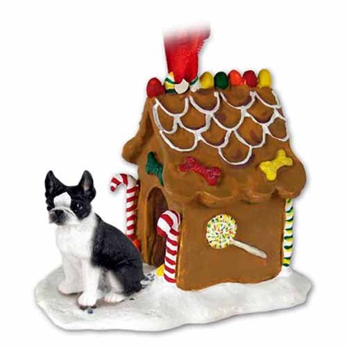 Conversation Concepts Boston Terrier Gingerbread House Ornament