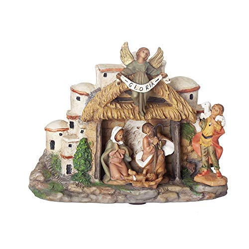 Fontanini, Musical Nativity Scene, 5″ H, Resin, Collection, Handmade in Italy, Designed and Manufactured in Tuscany, Polymer, Hand Painted, Italian, Detailed