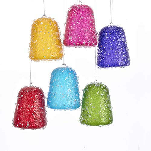 Kurt Adler Glittered Gum Drop Ornament – 6 Assorted Colors