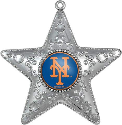 Topperscot New York Mets Silver Star Christmas Ornament