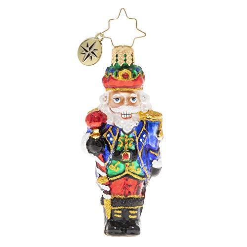 Christopher Radko Hand-Crafted European Glass Christmas Ornament, Commander of The Nutcrackers Gem