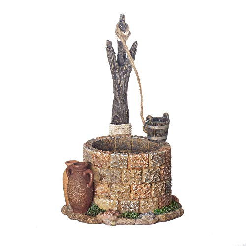 Fontanini, Nativity Building, Town Well, 7.5″ Scale, Collection, Handmade in Italy, Designed and Manufactured in Tuscany, Polymer, Hand Painted, Italian, Detailed