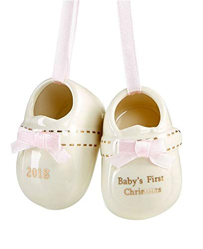 Holiday Lane 2018 Pink Baby Shoes Ornament