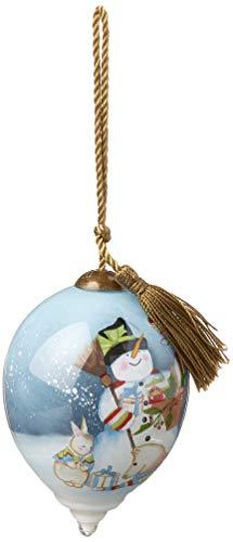 Ne'Qwa Petite Princess Snowman Merry Christmas Ornament, Multi