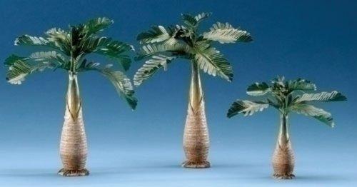 Fontanini Palm Trees Italian Nativity Village Accessory Figurines 3 Piece Set