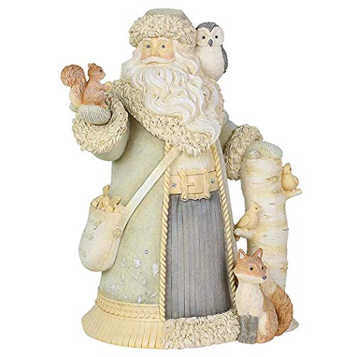 Enesco Heart of Christmas Woodland Santa and Friends Figurine, 8.07 Inch, Multicolor