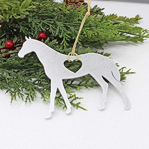 Horse Ornament – Aluminum Metal Christmas Tree Holiday Party Decorations Decor Gift