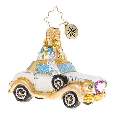 Christopher Radko Hand-Crafted European Glass Christmas Ornament, Wedding Bliss Chariot Gem