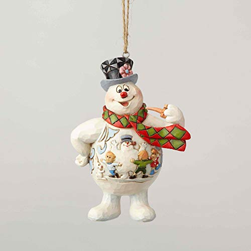 Enesco Frosty the Snowman by Jim Shore Frosty with Kid Scene on Belly Ornament