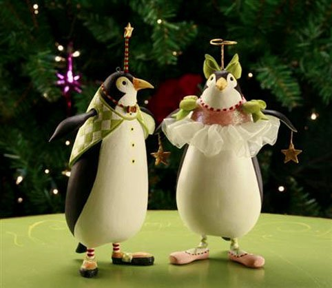 Patience Brewster KrinklesThaddeus & Millicent Penguin Ornament 30572