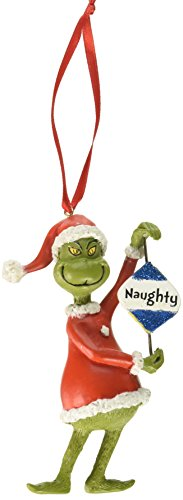 Department 56 Grinch Naughty or Nice Hanging Ornament