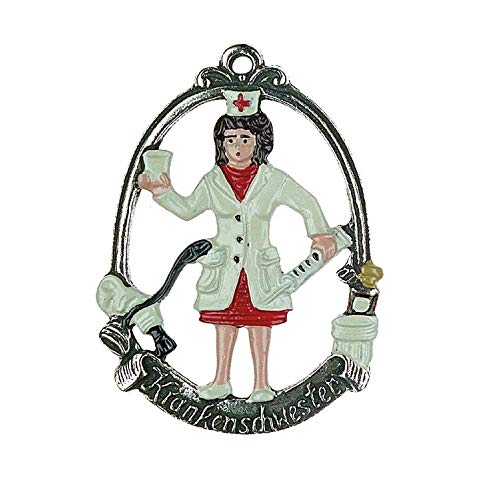 Pinnacle Peak Trading Company Nurse German Pewter Christmas Tree Ornament Nursing Decoration Gift New Germany